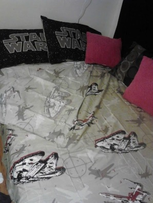 Yes, that is my bed. Yes, that makes home twice as awesome! :)