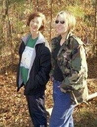 cher and meg in da woods