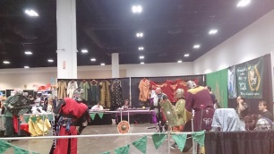 A demo for the Society for Creative Anachronism (SCA), Barony of Wyvernwoode in Tampa.